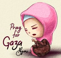 Pray for GAZA by ayien-chan