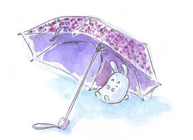Bunny and umbrella by jkBunny