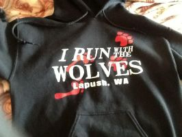 I run with the wolves (my hoodie) by NeonCandyLights