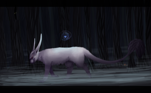 In dark forest by Buffy-the-cat