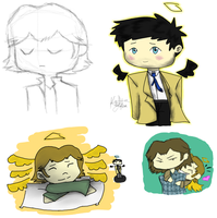 Gabriel Castiel and Sam Chibi by HeartlessDark