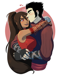 [Commission] Lovey-dovey by RiikoChick