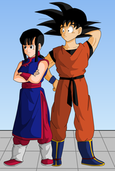 Weekly Drawing: Goku's Family 2 by RinskeR