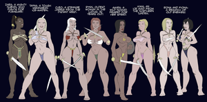 eight amazon gladiators by julianapostata