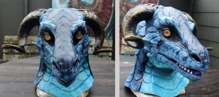 Blue dragon partial costume by zarathus