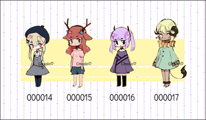 [OPEN 2/4] Set Price Adopts (000014-000017) by Citreolin