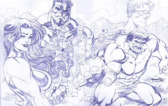 Hulk and Family by thejeremydale