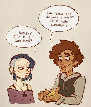 Coraline 'n Wybie - the good old days by SnuffyMcSnuff