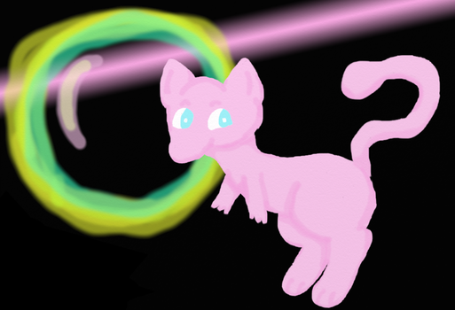 Mew, don't get in that bubble by ArielMew