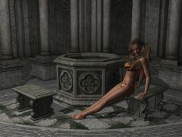 Cloister pinup by Tkrain
