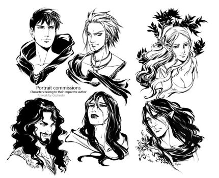 Portraits commissions 2 by Orpheelin