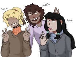 'Dudes that tend to be mistaken for women' squad by Crummy-Juncture