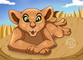 Nala Sunbathing by MaeraFey