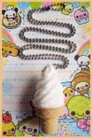 Vanilla Ice Cream Necklace 2 by cherryboop