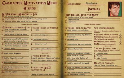 TMM Motivations Meme - Frederick by Silieth