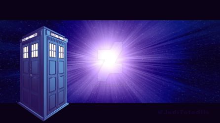 The TARDIS in space by piturantonio