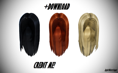 [MMD] Sims 4 Female Ironed Hair (+Download) by AppleWaterSugar