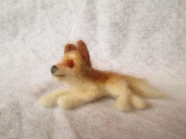 Santrot the Needle Felt Tiny Wolf Doll by RRedolfi