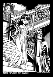 Batsy Explores the Mansion by BryanBaugh