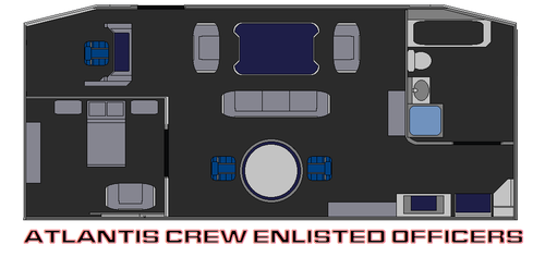 Atlantis Crew Enlisted Officers by bagera3005