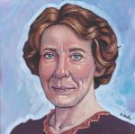 Mrs. Hughes from Downton Abbey Gouache Painting by ssava