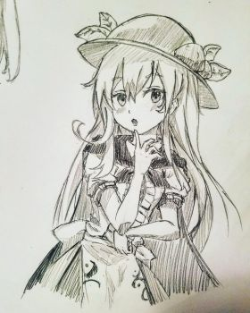 Touhou character drawing by Miniomegaxis
