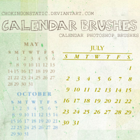 calendar brushes by chokingonstatic