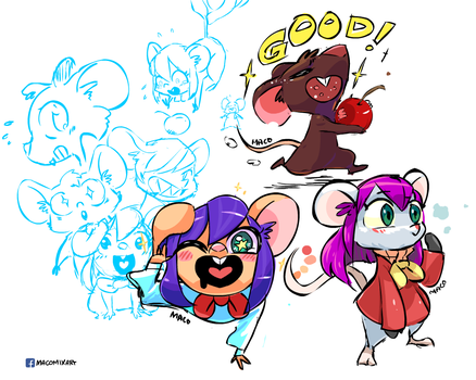 Mouse Doodles by macollado17