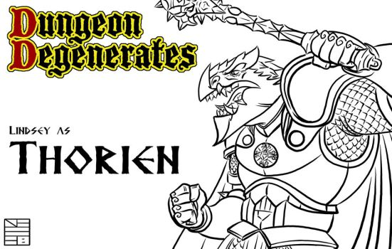 Dungeon Degenerates Thorien Character Design by IADM