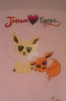 Jolteon and Eevee 3 3 by Cameo0801