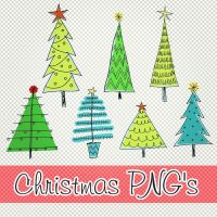 Christmas trees PNG's by PrettyLadySwag