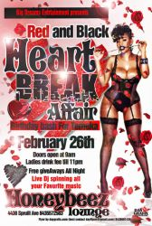 HEART BREAK VALENTINES FLYER by mochadevil83