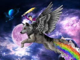 Space Wolf Adventure by SeanDrawn