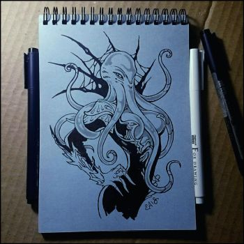 Sketchbook - Illithid by Candra