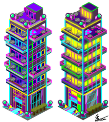 Neon Light Apartments. by MauroDboyPVZ