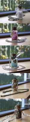 Bottle Pendants by delusional-dreams