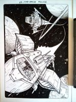Inktober 23 - The Space Police - 2017 by Hedrick-CS