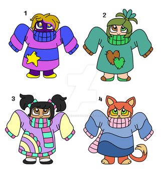 Sweater Bab Adopts (CLSOED) by KateTheRaccoon