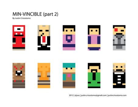 Minimalist Invincible Characters 2 by jsos