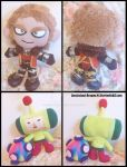 Commissions: Small Prince and Cullen Plushies by Sarasaland-Dragon