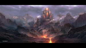 The forging castle by Hachiimon