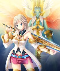 Ashe and Ultima esper, ff12 by maxwindy
