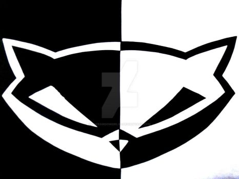 + and - Sly cooper logo by TheRandomGirlXD