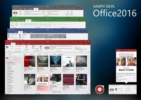 Office2016 AIMP4 Skin by laziem