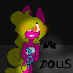 GoldenApple and her Doll ( REDRAW MEH DRAWING ) by CocoCinnamonBun