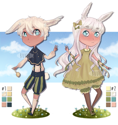 SOLD || Spring Bunnies by BuurdAdopts