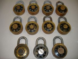 Old Master combo locks. by cheetahmikey