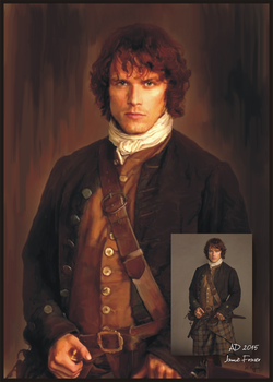 Jamie Fraser digital art painting by DuchWilka