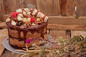Stacked Ferrero Chocolate Cake 02 by munchinees