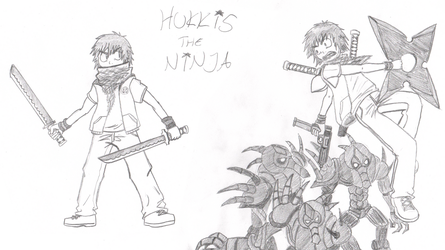 Hukkis the Ninja (b-day gift) by Darkkis91